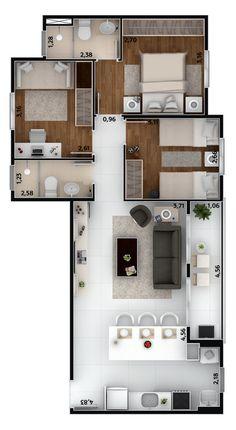 Mi futura Casa it is fantastic Sims House Plans, House Layout Plans, Dream House Plans, House Layouts, Small House Plans, House Floor Plans, Model House Plan, 2 Bedroom House Plans, Apartment Floor Plans