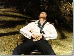 Elvis Presley on holiday, Hawaii (The only place He could go and not be harassed).