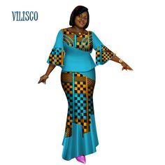 Bazin Riche Africain Tops et Jupe Ensembles pour les Femmes Africaines Imprimer Dashiki Traditionnelle 2 Pièce Jupe Ensembles Splice Vêtements WY2627 de la boutique en ligne | Aliexpress mobile