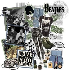 """""""~The Beatles~ ♥ all you need is love ♥"""" by nancymalik ❤ liked on Polyvore"""