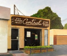"""Lastest Blog Post from """"The Art of Felice Panagrosso,"""" this the tenth painting in my series, """"Sign Paintings.""""  CENTRAL CLEANERS, in East Haven, Connecticut"""