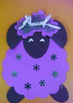 Koyun şeklinde kurban bayramı kartı