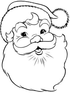 Santa Claus Face Coloring Page