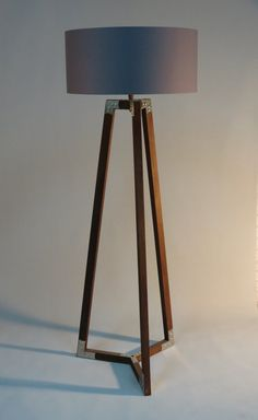 Floor lamp 13309 by usona floor lamp black fabric and bulbs handmade tripod floor lamp wooden stand in dark wood color with metal elementsdrum lampshade different colors lampshademodel ivanina mozeypictures Image collections