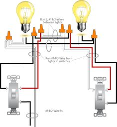 Two lights between 3 way switches with the power feed via one of the
