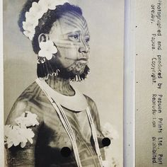 Proud Kairuku woman #papuanprintsltd #postcard sourced by 'Secret Museum of Mankind' from a private collection.