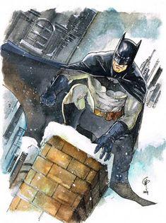 Batman in the Snow by Garrie M Gastonny