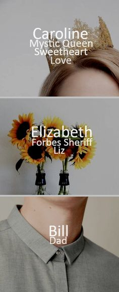 TVD characters_Caroline/Elizabeth/Bill_ - The Forbes Family - Work: D.A.