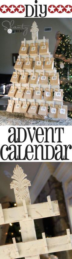 DIY Wood Advent Calendar with FREE Printables.