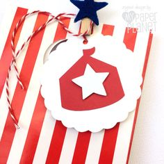 Circus Tent Big Top gift tags. Birthday party favor tags by MyPaperPlanet