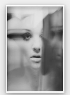 D 07 (Distortrait No. 7) by Kelly Castro. #art #photography #print #blackandwhite #abstractphotography #abstract #distortion #distortrait #print Creative Portraits, Abstract Photography, Framed Prints, Black And White, Face, Artwork, Distortion, Instagram, Work Of Art