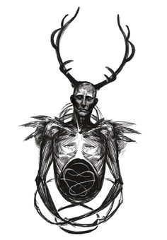 es war einmal by nyoronchan horned wendigo Hannibal Series, Nbc Hannibal, Hannibal Lecter, Hannibal Funny, Sketch Inspiration, Tattoo Inspiration, Movies Showing, Movies And Tv Shows, Hannibal Wendigo