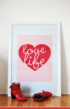 love life. love this poster + want. via nubby twiglet.