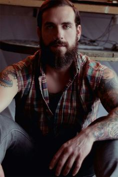 Beards and men's style. Tattoos, sleeves, ink, tats