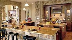 """""""Southern Living"""" Idea House in San Antonio, Texas - Heart Pine RECLAIMED wide plank flooring. Beautiful Kitchens, Cool Kitchens, Open Kitchens, Rustic Kitchens, Dream Kitchens, Southern Living Rooms, Cuisines Design, Home Interior Design, Kitchen Remodel"""