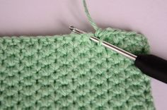 Hæklet karklud Crochet Placemats, Crochet Dishcloths, Crochet Stitches, Knit Crochet, So Creative, Diy Clothes, Diy And Crafts, Sewing, Knitting