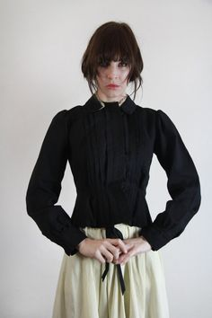 Victorian TWO PIECE in Black and Cream .