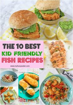 10 of the best kid-friendly fish and seafood recipes! 10 of the best kid-friendly fish and seafood recipes! Fish Recipes For Kids, White Fish Recipes, Easy Family Meals, Healthy Meals For Kids, Baby Food Recipes, Kids Meals, Healthy Snacks, Healthy Eating, Healthy Recipes