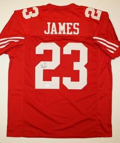 AAA Sports Memorabilia LLC - LeMichael James San Francisco 49ers NFL Hand Signed Authentic Style Red Jersey, $300.00 (http://www.aaasportsmemorabilia.com/nfl/lemichael-james-san-francisco-49ers-nfl-hand-signed-authentic-style-red-jersey/)