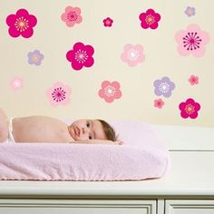 Removable decals for the walls the 'Cherry Blossoms' set makes a great addition to decorating the walls of any little girls room. #room #decorations