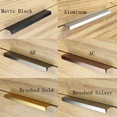 10Pcs Modern simple cabinet door edge handle wardrobe drawer brushed gold hidden furniture handle kitchen cabinet pull
