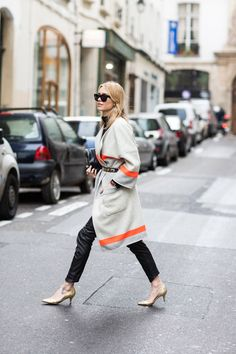 Pernille Teisbaek at Paris Fashionweek - Coat: Baum und Pferdgarten AW14 collection Tutleneck: Filippa K Leather pants: CLOSED Shoes: Ganni Clutch: Balenciaga at Holly Golightly Sunglasses: Acne    2      1