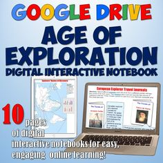 This Age of Exploration and Discovery Google Drive Digital Interactive Notebook features 10 fully-editable Interactive pages on the Age of Exploration/Age of Discovery. Awesome for a 1:1 lesson or to integrate technology into your classroom!