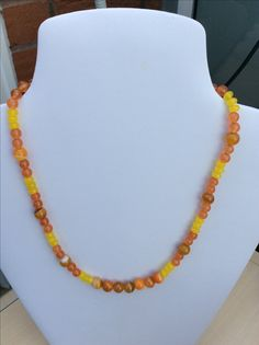Yellow and Orange Quartz with Banded Agate