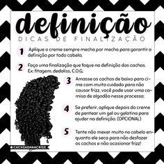 O post de hoje é… Curly Hair Tips, Curly Hair Care, Natural Hair Care, Wavy Hair, Curly Hair Styles, Natural Hair Styles, Afro Hair, Samara, Beauty Skin