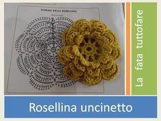 Tutorial: rosellina uncinetto - YouTube