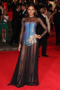 Naomie Harris at the world premiere of Skyfall