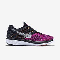 Nike Flyknit Lunar 3 Zapatillas De Running Mujer Negro/Fucsia Flash/Lava Cálida/Blanco 698182-006