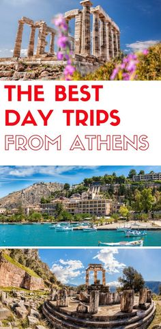 the best day trips from Athens Greece, do a day trip from Athens to Sounio, 3 Greek islands, Delphi, Meteora and more. The best day tours from Athens Greece