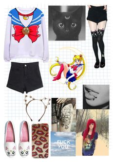 """""""Sailor Moon """" by that-1-awkward-friend1234 ❤ liked on Polyvore featuring Spree Picky, cutekawaii, Episode, women's clothing, women's fashion, women, female, woman, misses and juniors"""