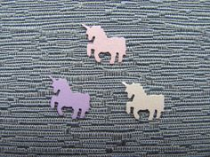 Unicorn Paper Confetti - 100 Pieces - 1/2 inch (1.27 cm) x 1/2 inch (1.27 cm) - white & pink shimmer, lavender or choose your own color(s)