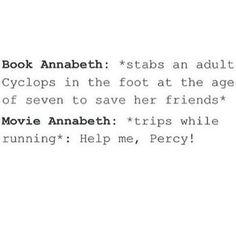 Book Annabeth!!!! Plus, Disney makes annabeth look xtremely weak when she's not