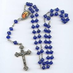 Vintage Italy Blue Molded Glass Bead Rosary SacredHeart Perpetual Marker http://www.ebay.com/itm/Vintage-Italy-Blue-Molded-Glass-Bead-Rosary-Sacred-Heart-Perpetual-Marker-19-5-/171934797129 … #myricky