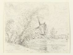 A windmill at Arundel, John Constable, 1835