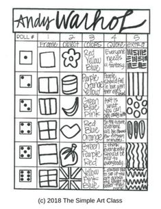 18 Trendy Andy Warhol Pop Art For Kids Projects Fun Andy Warhol Pop Art, Andy Warhol Drawings, Pop Art For Kids, Kids Fun, Art Sub Plans, Art Worksheets, Ecole Art, Art Lessons Elementary, Art Activities