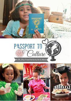 Passport to Culture: An At-Home Travel Series that celebrates multiculturalism in parenting by teaching global food culture, traditions and country facts through dress-up and party! via De Su Mama