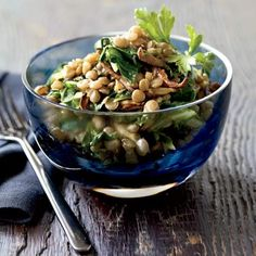 Eat these stewy lentils as a light lunch or serve alongside a mix of hearty roasted winter vegetables for a satiating vegetarian meal.  Recipe: Spiced Lentils with Mushrooms and Greens   - Delish.com