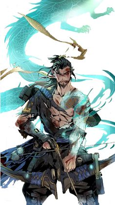 Handsome Cartoon #Dragon #Hanzo #Picture