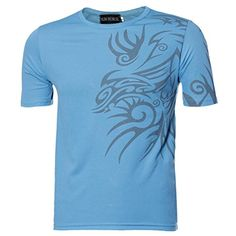 TShirtSMTSMT Mens Summer Cotton Tees Shirt Short Sleeve Star Printed TShirt XXL Blue * Details can be found by clicking on the image.