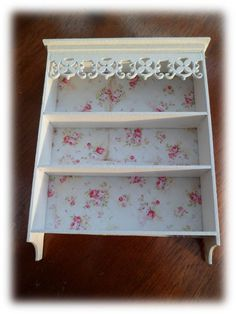Items similar to Pretty Shabby Shelving on Etsy Upcycled Furniture, Shabby Chic Furniture, Painted Furniture, Furniture Ideas, Shabby Home, Red Cottage, Romantic Homes, Storage Hacks, How To Make Diy