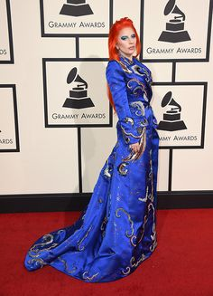 Lady Gaga in Marc Jacobs arrives at the annual Grammy Awards at the Staples Center on Monday, Feb. in Los Angeles.Visit the post for more. Grammy Awards 2016, Mermaid Parade, Hollywood Red Carpet, Nice Dresses, Formal Dresses, Red Carpet Event, Red Carpet Looks, Celebs, Celebrities