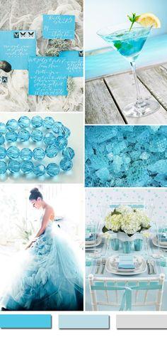 pacific blue beach wedding color ideas