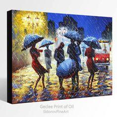 Pintura al óleo de GICLEE impresión lienzo fino arte ORIGINAL