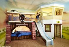 Fly away: Baron's Bunk, which starts at £25,000, prides itself as a luxury children's bedr...
