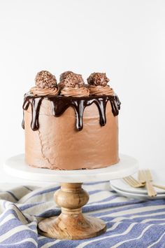Nutella Chocolate Cake with Nutella Cream Cheese Frosting
