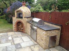 Primo 60 - Mark Rice - The Stone Bake Oven Company Outdoor Kitchen Patio, Pizza Oven Outdoor, Outdoor Kitchen Design, Brick Oven Outdoor, Outdoor Living, Backyard Patio Designs, Backyard Bbq, Diy Barbecue, Barbeque Design
